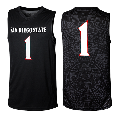 Not Nike and only Number One 2015 Aztec Calendar Replica Basketball Jersey 08f286dc9