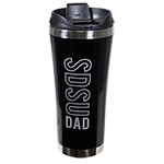 SDSU Dad Travel Tumbler-Black