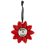 SDSU Mom Ceramic Flower Ornament