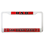 Dad License Plate Frame-Red