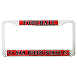 Football License Plate Frame-Red