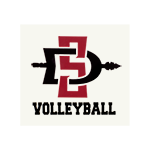 SD Spear Volleyball Decal-White
