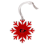 SD Spear Acrylic Snowflake Ornament-Red