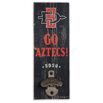 Go Aztecs Wooden Wall Mount Bottle Opener