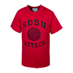 Youth Aztec Calendar Tee-Red