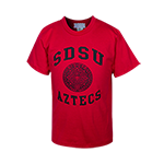 Toddler Aztec Calendar Tee-Red