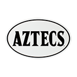 Aztecs Oval Decal-White