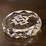 SD Spear Crystal Paperweight