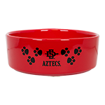 SD Spear Aztecs Pet Bowl-Red