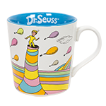 Dr. Seuss Oh The Places Mug-White