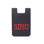 SDSU Silicone Cell Phone ID Holder-Black