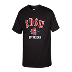 SDSU SD Spear Boyfriend Tee-Black