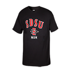 SDSU SD Spear Mom Tee-Black