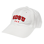 SDSU Dad Adjustable Cap-White