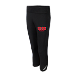 Women's SDSU Workout Capri Pant-Black