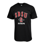 SDSU SD Spear Husband Tee-Black