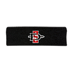 SD Spear Terrycloth Headband-Black