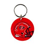 SD Spear Football Helmet Mirror Keytag