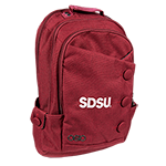 Ogio SDSU Button Backpack-Red