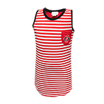 Youth Striped SD Spear Pocket Tank-Red & White