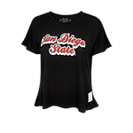 Women's San Diego State Crop Tee-Black