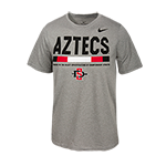 2017 Youth Nike Sideline Aztecs SD Spear Tee-Gray