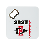 SDSU Aztecs Bottle Opener Coaster-White