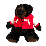 SDSU Letterman Jacket Plush Bear