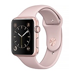 Apple Watch Series 2 Rose Gold Aluminum Case w/ Pink Sand Sport Band 42mm
