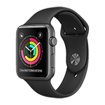Apple Watch Series 1 Space Gray Aluminum Case w/ Black Sport Band 42mm