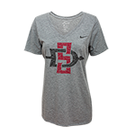 Women's Nike SD Spear V-Neck Tee-Gray