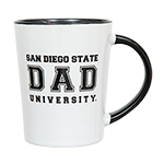 San Diego State Dad Mug-White & Black