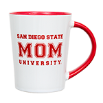 San Diego State Mom Mug- White & red