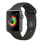 Apple Watch Series 3 GPS 42mm Space Gray Aluminum Case w/ Gray Sport Band