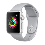 Apple Watch Series 3 GPS 38mm Silver Aluminum Case w/ Fog Sport Band