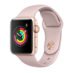 Apple Watch Series 3 GPS 38mm Gold Aluminum Case w/ Pink Sand Sport Band