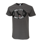 One City One Team tee-Charcoal