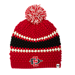 Women's Pearl Knit SD Spear Beanie-Red