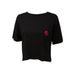Women's SD Spear Pocket Cropped Tee-Black
