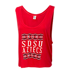 Women's SDSU Aztecs Boxy Cropped Tank-Red