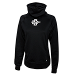 Women's Funnel Neck SD Spear Sweatshirt-Black