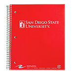 San Diego State University 2-Subject Notebook Red