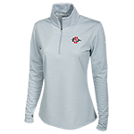 Women's Nike Golf Textured 1/4 Zip Jacket-Gray