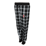 Women's SD Spear Plaid Flannel Pants-Black & White