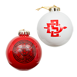 2-Pack Spirit Ornaments-Red and White