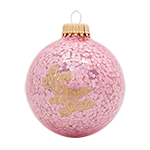 San Diego State Sparkle Glass Ornament-Pink