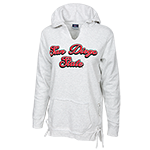 Women's San Diego State Sweatshirt-Oxford Gray