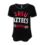 Women's SDSU Aztecs Basketball Tee-Black