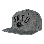 SDSU Flatbill Adjustable Hat-Charcoal