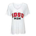 Women's SDSU Mom Tee-White